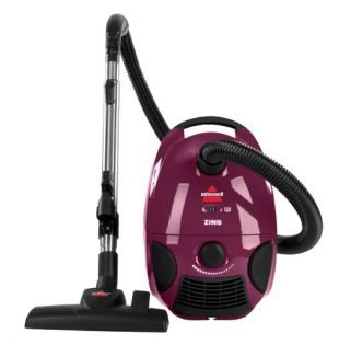 Best Bagged Vacuum - Bissell Zing Bagged Canister Vacuum, Maroon, 4122