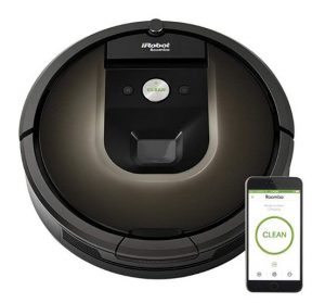 Best Vacuum for Long Hair - iRobot Roomba 980 Robot Vacuum with Wi-Fi Connectivity, Works with Alexa