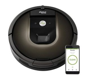 Best Lightweight Vacuum Cleaner for Seniors and Elderly People - iRobot Roomba 980 Robot Vacuum with Wi-Fi Connectivity