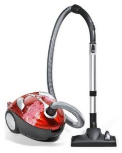 Best Vacuum for Dorm Room - Dirt Devil Tattoo Crimson Bouquet Bagged Canister Vacuum, SD30040BB - Corded