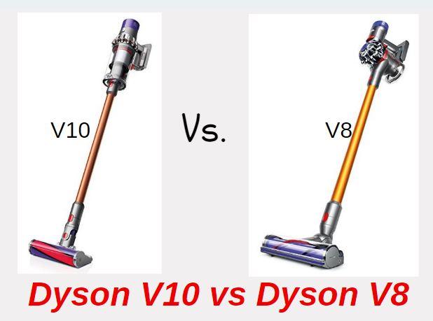 Dyson V10 vs V8 - Dyson V8 vs V10 - Infographic