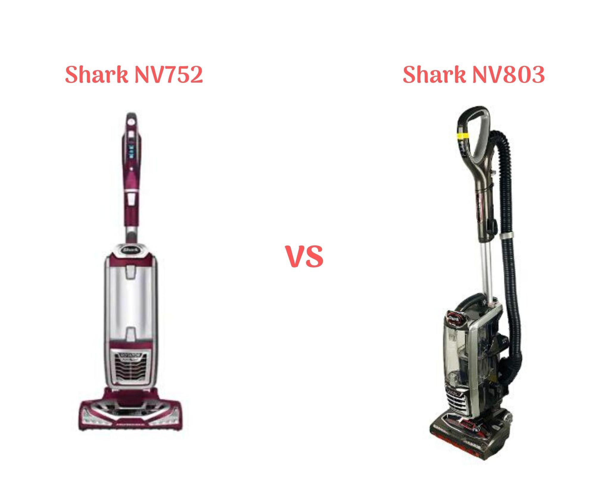 Shark NV752 vs NV803 - Shark Rotator Powered Lift-Away TruePet Upright Vacuum (NV752) vs the Shark DuoClean Powered Lift-Away Speed Upright Vacuum (NV803)