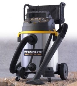 WORKSHOP WS1600SS 16 Gallon 6.5 Peak HP Wet Dry Vacuum Cleaner - Best Vacuum for Large Household