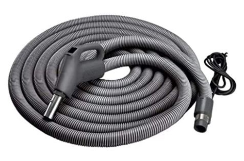 Broan-NuTone CH515 Current-Carrying Crush-Proof Central Vacuum Hose with Swivel Handle - Best Replacement Hose for Central Vacuum Systems