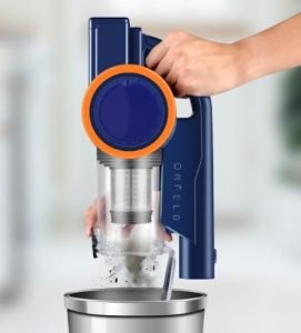 ORFELD 18000Pa 4 in 1 Cordless Stick Vacuum Review - ORFELD EV679 Cordless Stick Vacuum 18kPa - Dust cup