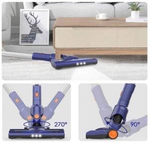 ORFELD EV679 Cordless Stick Vacuum Review - Flexible LED Electric Brush