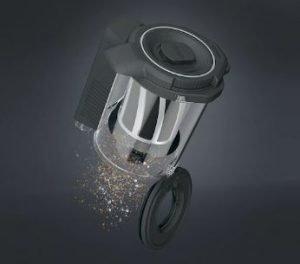 Miele TriFlex HX1 Stick Vacuum Review - Dustcup