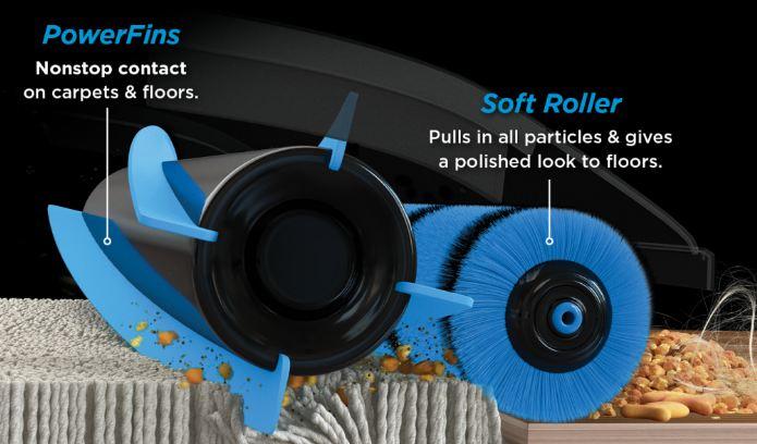 Shark Rotator LA502 ADV DuoClean PowerFins Upright Vacuum Review - PowerFins