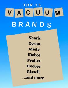 Top 25 Best Vacuum Cleaner Brands